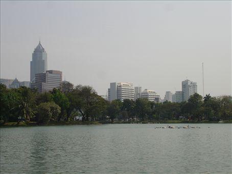 Bangkok from Lumphini park
