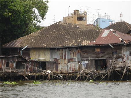 One of the cheaper hotels along the river in Bangkok.