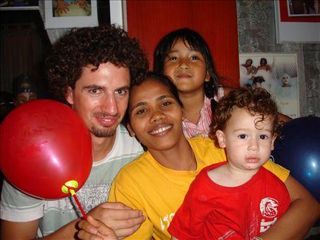 Tuk-ta and some random kids and myself in Khoa San Road in Bangkok.