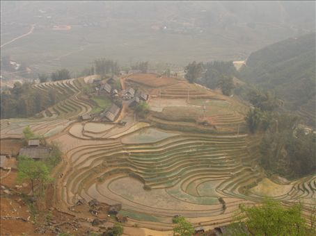 The terraced hills and valleys of Sapa. Just amazing, all done by hand.