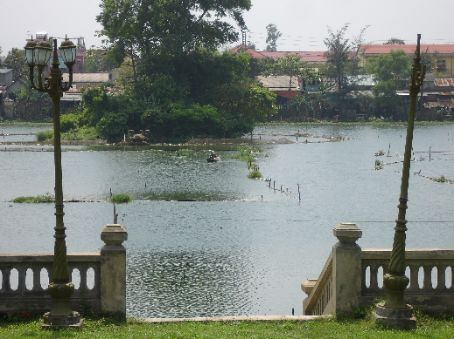 Fish farms in a lake within the Citadel