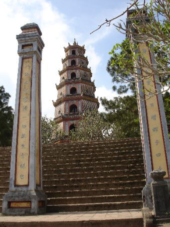 Thien Mu Pagoda just 4km down the road from the Citadel