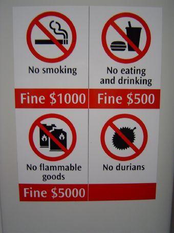 Was nicht erlaubt ist, ist verboten! Willkommen in Singapur!