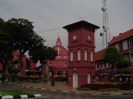 Koloniales Erbe in Melaka, Malaysia.