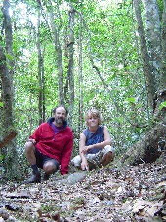 Auf dem Hiking Trail im Border Range NP.