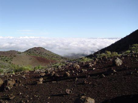 Blick ueber die Umgebung nahe des Visitors Center des Mauna Kea.