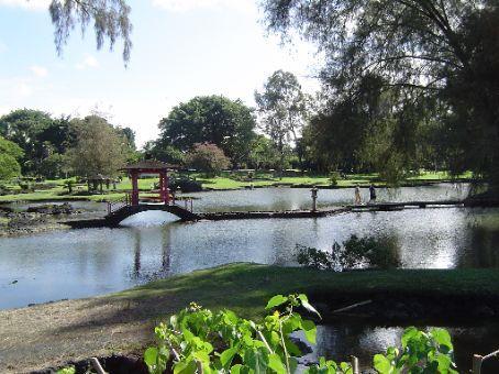 Japanischer Garten in Hilo.