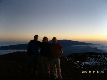 Matthew, Giorgo und ich auf 13,796 Fuss.