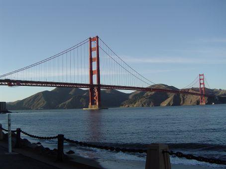 Was muss das muss: Ein Bild von der wirklich beeindruckenden Golden Gate Bridge.