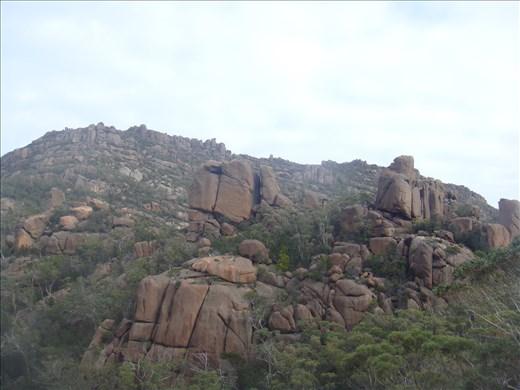 Ochre rocks, Freycinet NP