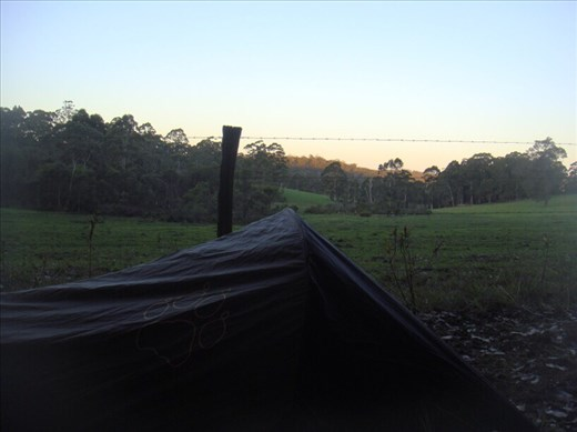Camping in the paddock, Mt. Frankland NP, WA