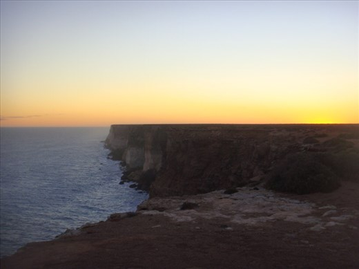 Bunda Cliffs at sunset, SA