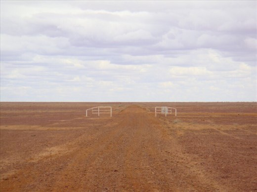 Keep your eyes peeled for signage, Turnoff to Walkers Crossing Track, Sturt Stony Desert, SA