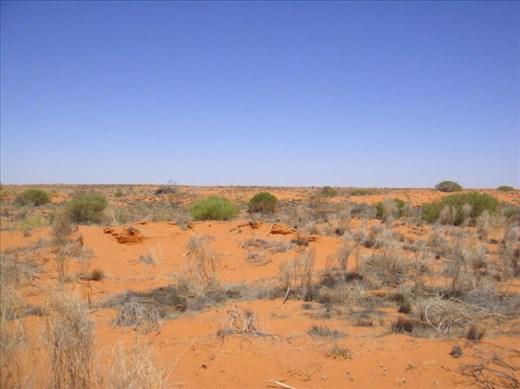 Approaching the Strzelecki Desert, SA