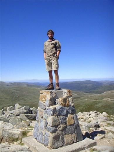 Standing on the roof of Australia, Mt. Kosciuszko (2228m), Kosciuszko NP, NSW