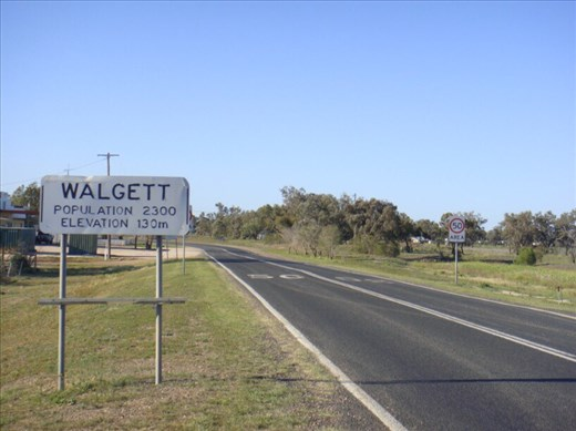 Entering town, Walgett, second most violent postcode in NSW.
