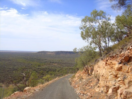 Steep incline, Mount Oxley, Bourke, NSW.