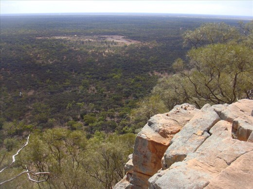 A high drop, Mount Oxley, Bourke, NSW.