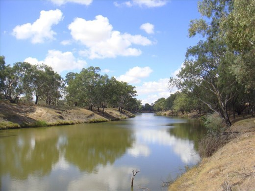 The Darling river, Bourke, NSW.