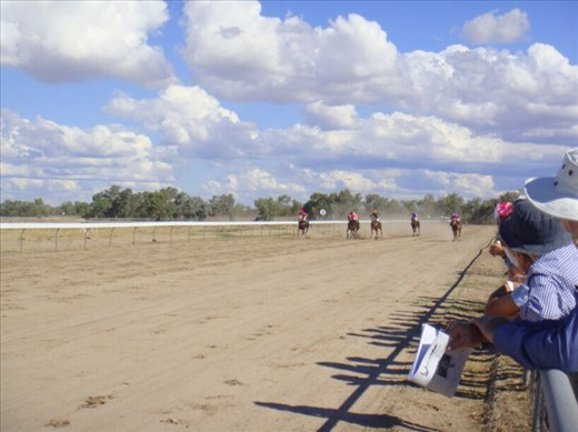 At the races, Bourke, NSW.