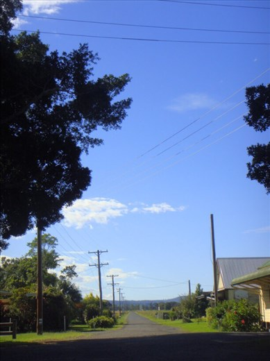 Main street, Croki, NSW.