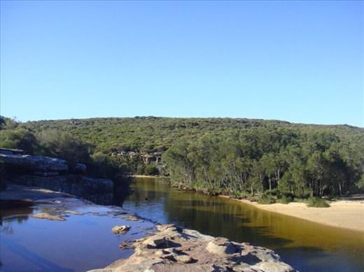 Wattamolla falls and creek, Royal NP, NSW.