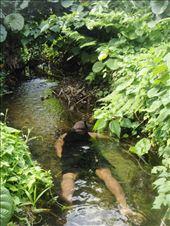 Chanel looking for naura (crayfish), Caroline Bay, Malekula.: by thomasz, Views[116]