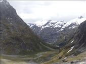 U-shaped valley, a glacier once filled it, near Gertrude Saddle, Fiordlane NP: by thomasz, Views[36]