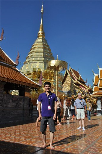 Golden Temple in Chiang Mai, ThaiLan