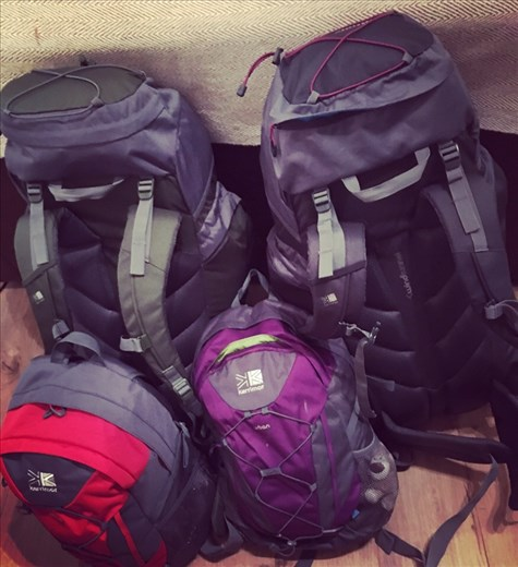 All packed and ready to go. Our lives for the next 8 months!