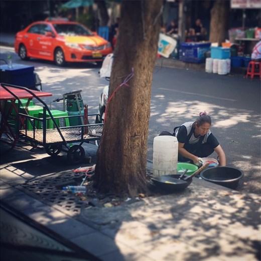 Street life.  Bangkok, Thailand.