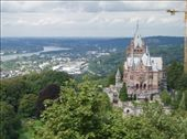 Schloss Drachenburg with Konigswinter in background: by tingays-in-europe, Views[629]
