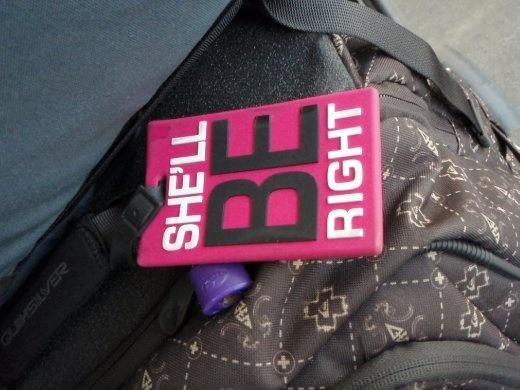 My luggage tag courtesy of Liz :)