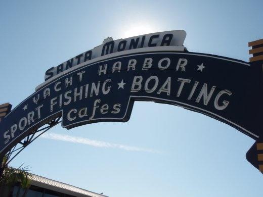 The famous Santa Monica Pier