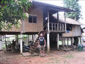 Home of family that invited us to stay the night in remote village of Southern Laos (Ban Kong Lo): by tk-tempany, Views[378]