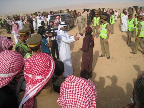 Fashion Reporter at Camel Race