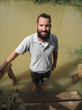 Wading in the river Jordan at the site of Jesus' baptism.: by tk-tempany, Views[414]