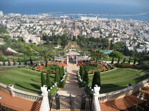 The Bahai gardens in Haifa.