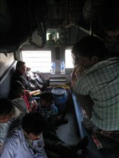 Our time in India included many hours on buses and trains. This was our 22 hour train trip from Delhi to Gorahkpur. We got a great insight into Indian life travelling this way. : by tk-tempany, Views[424]