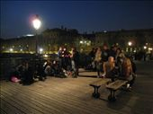 At about 10pm at night, this footbridge over the Seine filled up with young people just chatting and picnicing. The atmosphere was superb.: by tk-tempany, Views[267]