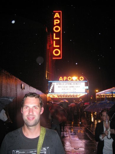 Apollo Theatre in Harlem. We went to Amateur Night and it was sensational. Amateur Night was where the Jackson Five started back in 1967.