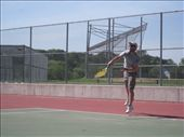 The Haro family love Tennis, so we got plenty of practice on the courts of Queens and Long Island. It was fantastic. This was an ace by the way.: by tk-tempany, Views[172]
