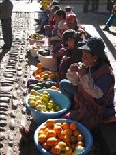 Competition is stiff at the Mandarin section of the Cusco market. : by tk-tempany, Views[259]