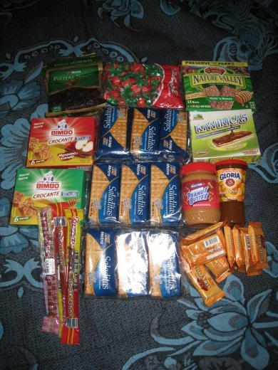 Our return to Peru was for Tim to do a 7 day trek in the Cordilerra Blanca, an incredible mountain range in the Andes with over 30 peaks higher than 5,500m. This is the food he took for the 7 days.