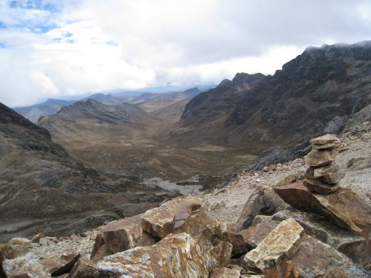 This is at the top of the same pass but looking over the other side into a wide valley.