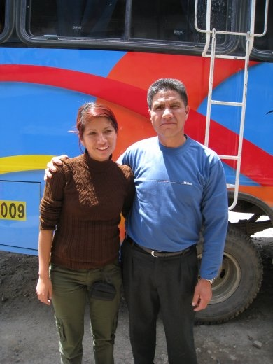 On the bus trip back to Huaraz (where Kathryn was staying), I met this friendly father and daughter from Lima.