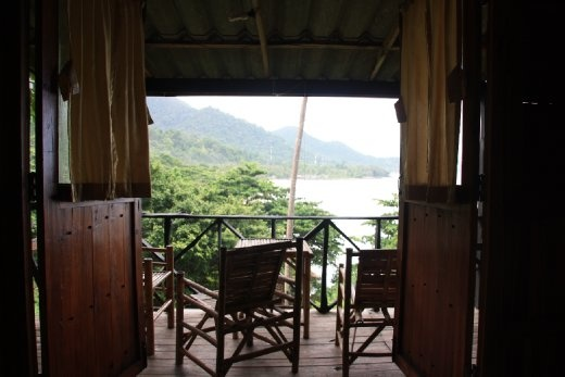 The view from our hillside bungalow in Lonely beach, Koh Chang