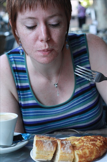 Ingrid's 1st good coffee in over a month