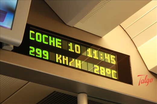 High speed train from Madrid to Barcelona