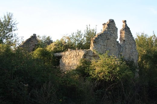 Ruin from the civil war - small Serbian town outside of Pozega